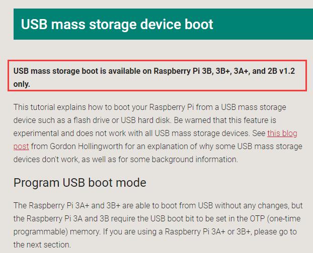 树莓派4B配置U盘启动