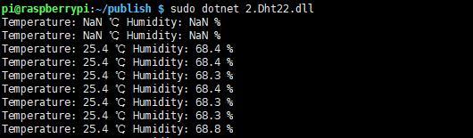 树莓派.Net Core Iot入门系列篇(2):DHT22温湿度传感器的使用插图2